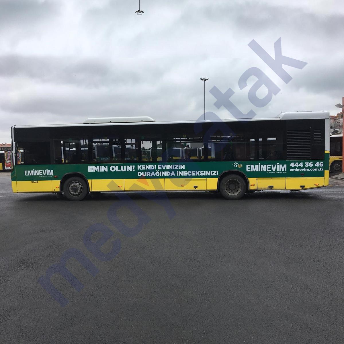 otobüs şerit kaplama - medya atak